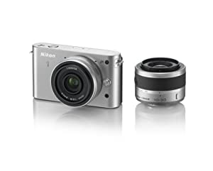 Nikon 1 J1 10.1 MP HD Digital Camera System with 10mm and 10-30mm VR 1 NIKKOR Lenses (Silver)