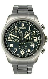 Victorinox Swiss Army Infantry Gunmetal Vintage Chrono Olive Dial Men's Watch #241289