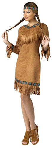 Funworld Womens Western American Indian Theme Party Fancy Halloween Costume