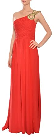 Escada Couture Silk Grecian One Shoulder Eve Gown Dress