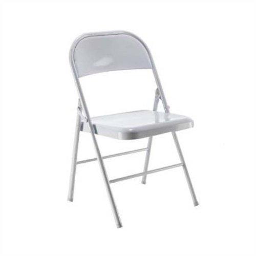 Jemini Metal Folding Chair White KF73588