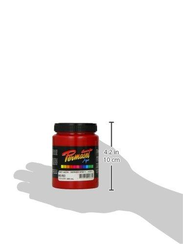 Permaset Aqua Encre pour impression sur tissu Rouge moyen 300 ml
