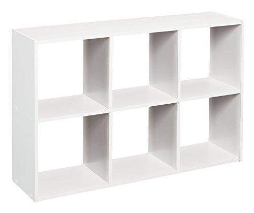 Mini Wall Shelf Shelve 6 Cube Organizer White Design