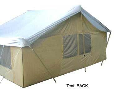 Trek tents 245c canvas cabin 9x12 39 heavy camping 7 person tent for Canvas tent fly