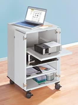 office akktiv Chariot multimédias - 2 portes battantes, 3 tablettes h x l x p 960 x 550 x 550 mm - armoire informatique armoire pour ordinateur armoires informatiques armoires pour ordinateur chariot multimédias meubles informatiques mobilie