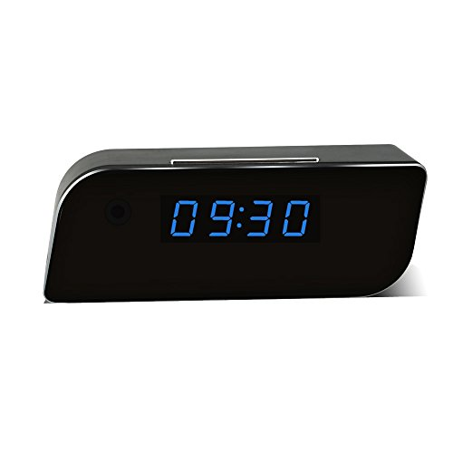 Eyeclub Wi-Fi Hidden Camera Alarm Clock Spy Cam HD Wireless IP Security Surveillance Camera Motion Activated Nanny Camera Night Vision (Wi Fi Spy Cam compare prices)