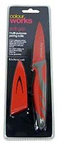 Kitchen Craft Colourworks Paring Knife - Non-Stick - Red