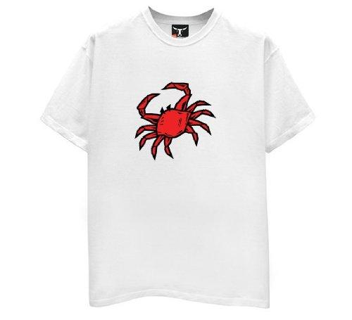 Crab T-Shirt-Mens-White-Large