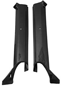 1967 Camaro Pillar Post Molding, Black (Convertible) (Also fits Firebird)