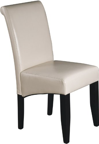 Buy Low Price Office Star Products Parsons Dining Chair – Cream Bonded Leather – Office Star MET86CM – Metro Collection (OSP-MET86CM)