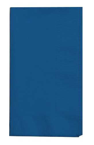 Creative Converting Touch of Color 100 Count 2-Ply Paper Dinner Napkins, Navy