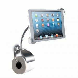 CTA Digital Wall-Mount Bathroom Stand for iPad and Tablets with Paper Holder (PAD-WBS) from CTA Digital
