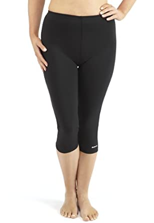 Bohn Swimwear Ladies 3/4 Length Swim Leggings (US 06, Black)