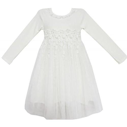 FE21 子供ドレス キッズドレス 結婚式 発表会 レース チュール ダンス 誕生日 110cm