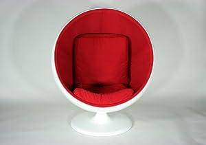 ■デザイナーズ ボールチェア ミッドセンチュリー WHITE
