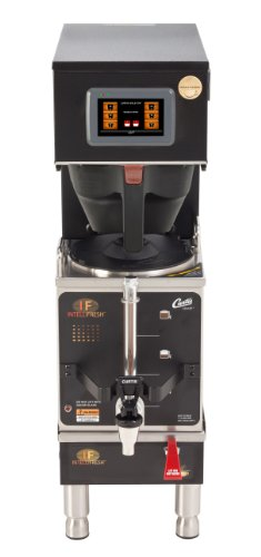 Wilbur Curtis G4 Gemini Single Coffee Brewer, 1.5 Gal. w/IntelliFresh, Dual Voltage, Black - Commercial Coffee Brewer with Digital Control Module and Self-Diagnostic System for Gourmet Results - G4GEMSIF63B1000 (Each)