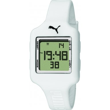 Puma Ladies Watch Digital Slide- S White Quartz