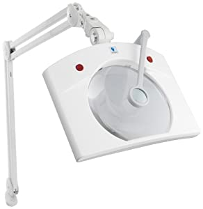 Daylight-Deluxe Magnifying Lamp, 7-1/2 by 7-Inch, White