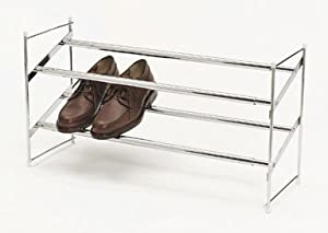 RUBBERMAID EXPANDING AND STACKING SHOE RACK