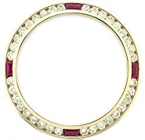Ladies 1ct Diamond Bezel 18ky for Rolex with Rubies
