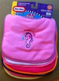 Little Tikes 5 Pack Bibs- Easy Closure