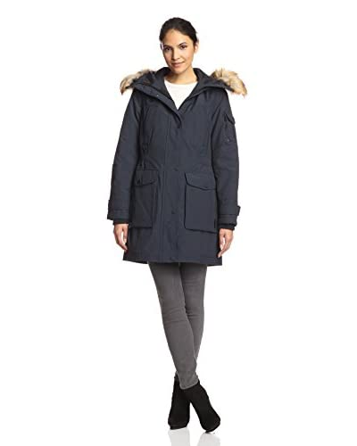 1 Madison Women's Parka with Faux Fur Trim