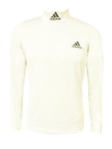 Adidas Basic-Maglia a collo alto da donna, taglia 42, colore: bianco