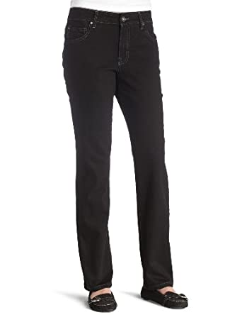 BANDOLINOBLU Women's Mandie Classic Jean, Saturated Black, 6
