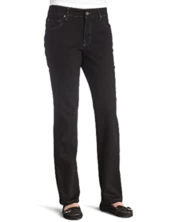 BANDOLINOBLU Women's Mandie Classic Jean, Saturated Black, 12