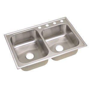 Elkay DPC23322-MR2 Dayton Top Mount Double Bowl Kitchen Sink Review ...