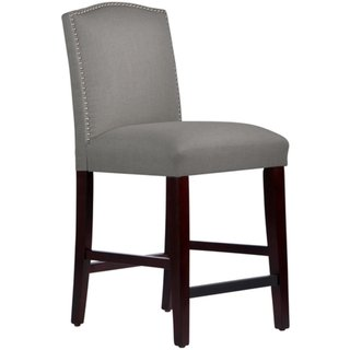 Skyline Furniture Nail Button Arched Counter Stool in Grey Linen (Skyline Outdoor Furniture compare prices)
