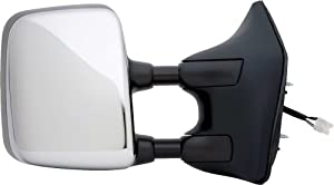 Prime Choice Auto Parts KAPNI1321202 Power Heated Manual Folding Chrome Passengers Side Mirror
