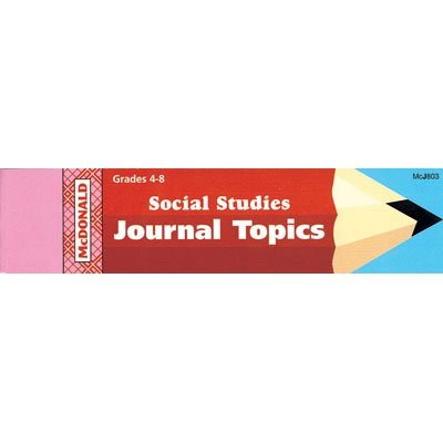 Mcdonald Publishing Mc-j803 Journal Booklet Social Studies Gr 4-8