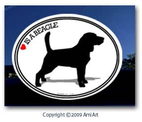 Amazon.com: Beagle Decal- LOVE IS A BEAGLE - Dog Bumper Sticker for