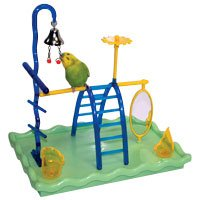 JW Pet Company Insight Play Gym Small Bird Toy Assorted Colors
