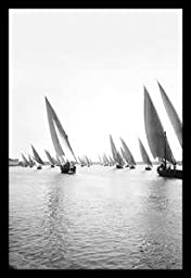 30 x 20 Stretched Canvas Poster Fleet of Native Boats on the Nile