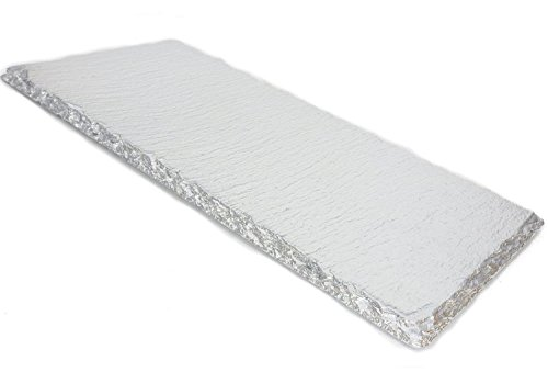 Renee Redesigns Hand Painted Small Silver Slate Tray with Silver Eyelet Detailing | Protects Table Surfaces | For Hot & Cold Beverages and Candles