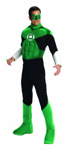 Green Lantern Deluxe Costume, Green, Large