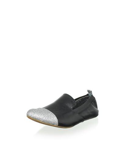 Yosi Samra Women's Ariel Two Tone Glitter Loafer