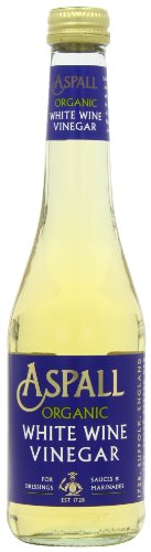 Aspall Organic White Wine Vinegar 350 ml (Pack of 6)