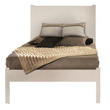 Cama, estilo clásico, madera maciza y MDF - 100X212X115H 100% made in italy
