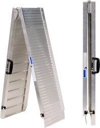 7' Portable Folding Track Ramps Assist with Moving Mobility Scooters/wheelchairs Into the Side Door of a Van