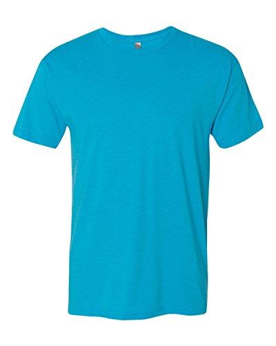 6010 Next Level Men's Tri-Blend Crewneck T-Shirt - Vintage Turquoise - L