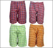 Spictex Boys' Cotton Shorts (Pack Of 4) (SPIC-CT142-PC4-05_Multicolor_10 Years - 12 Years)