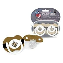 New Orleans Saints NFL Baby Pacifier - 2 Pack