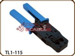 Ratchet Type Crimping Tool for Modular Plugs 8P8C-RJ45 6P6C-RJ12 6P4C-RJ11 6P2C; Also Cuts & Strips
