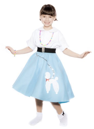 50s Felt Poodle Skirt in Retro Colors size Child / Preteen by Hey Viv !
