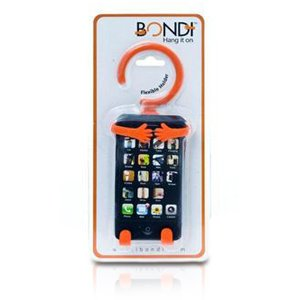 Bondi Unique Flexible Cell Phone Holder Made of High Quality Silicon - Orange