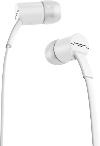 Sol Republic 1112-32 Jax In-Ear Headphones With 1-Button Mic And Music Control - Paper White
