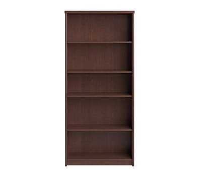 Bush Envoy 30 in. 5-Shelf Bookcase - Mocha Cherry Bush Furniture 4 Shelf Bookcase